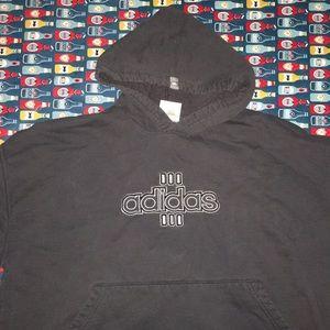 Adidas charcoal gray hoodie sweatshirt measured